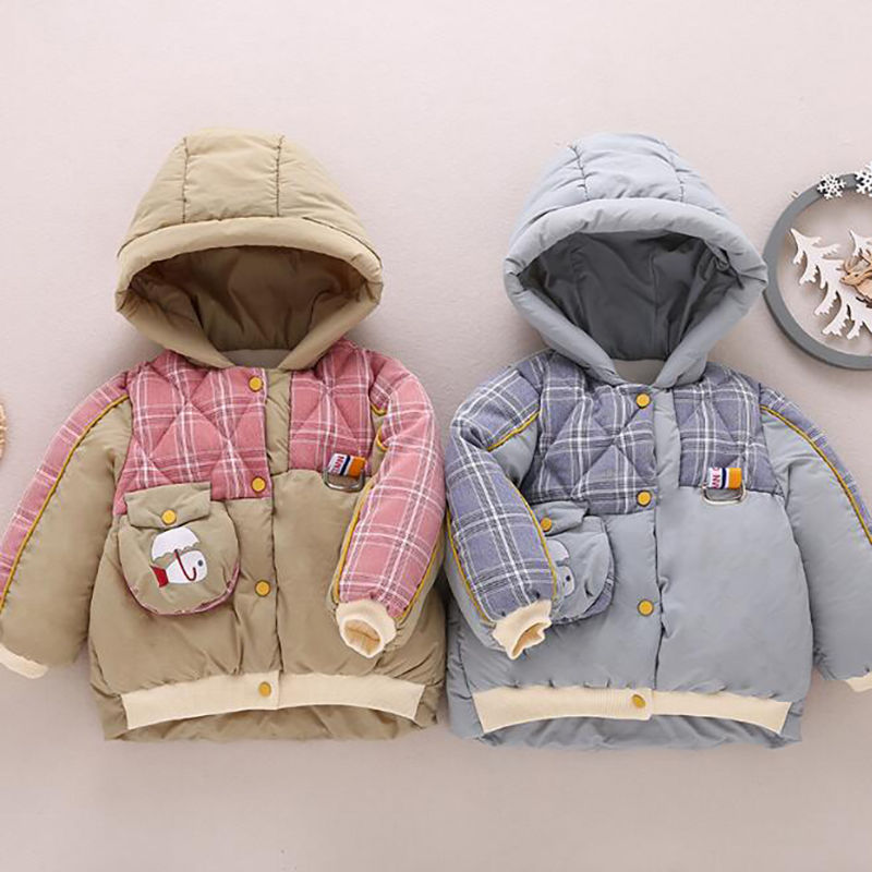 Toddler Baby Boy Clothes Winter Coats Infant Snowsuit Jacket  Cotton Clothes Thicken Hooded Warm YYY020
