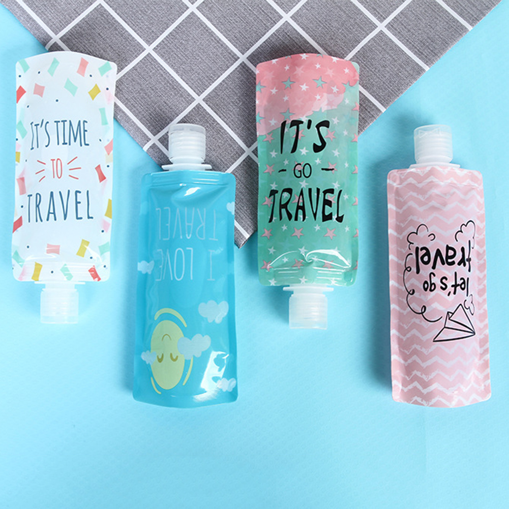 1PCS Portable Travel Folding Dispensing Bag Portable Shower Shampoo Bottle Facial Cleanser Liquid Storage Bag Organizer