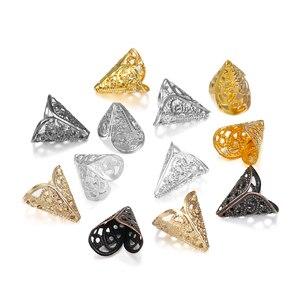 50pcs 16x16mm Cone Beads Caps