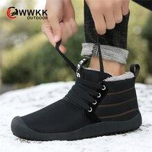 WWKK/мужские ботинки; коллекция года; зимняя обувь; Мужские Водонепроницаемые зимние ботинки на шнуровке; теплая плюшевая зимняя обувь; мужские повседневные лыжные ботинки; кроссовки