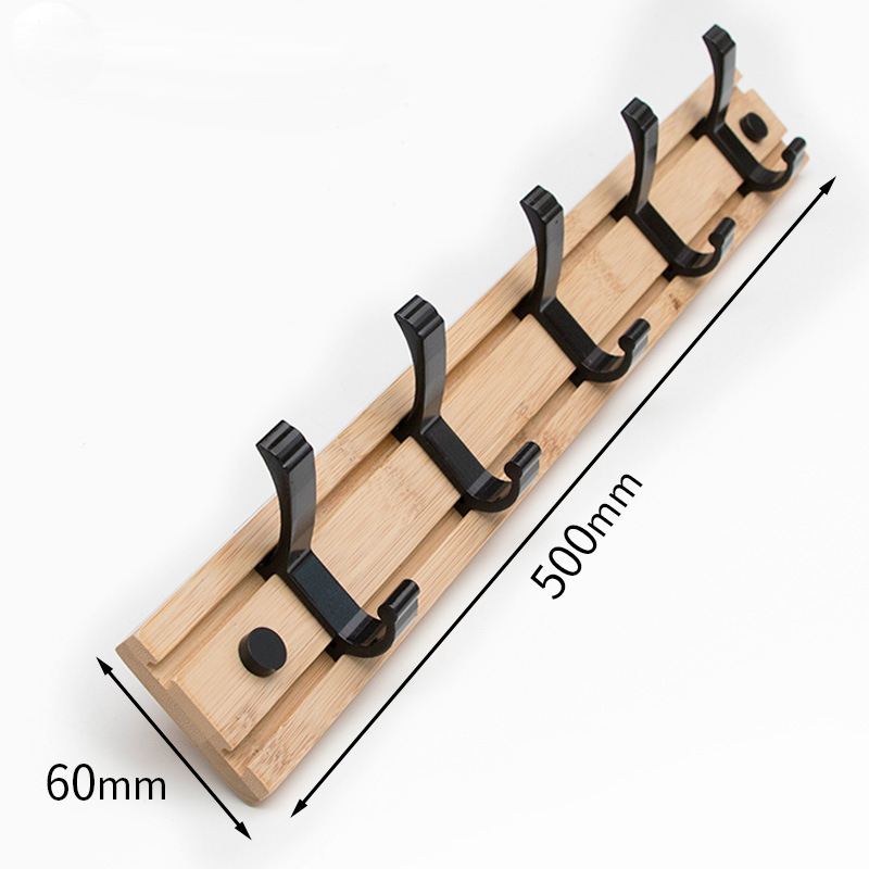Wood Wall Hooks Coat Rack  Crochet Clothes Hook Hanger Adhesive Hook Corner Shelf Bamboo Floating Shelf Bedroom Shelves