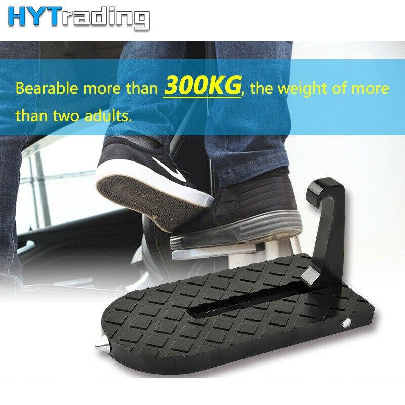 Universal Placa de pie de la puerta del coche para el coche SUV clavijas de pie plegables Pedal vehículo martillo de emergencia para Jeep camión SUV techo