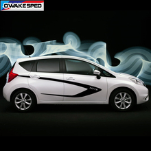 Racing Sport Stripes For Nissan Note NISMO S POWER 2014-2017 Car Styling Door Side Sticker Auto Body Decor Vinyl Decals цена и фото