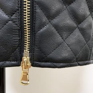 Image 5 - Высококачественная Дизайнерская Женская юбка из синтетической кожи 2020