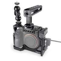 MAGICRIG carcasa de camara DSLR con mango NATO y cabeza de bola para Sony A7II/A7III/A7SII/A7M3/A7RII/A7RIII Kit de extensión de cámara