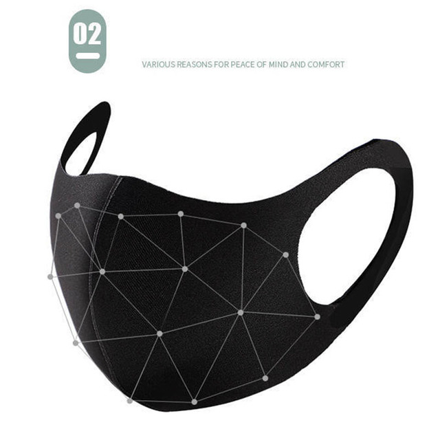 10pcs Unisex PM2.5 Mouth Mask Anti Haze Dust Mask Nose Filter Windproof Face Muffle Bacteria Flu Fabric Cloth Respirator 1