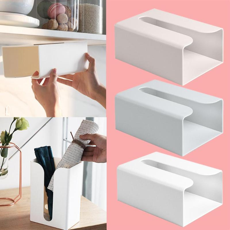 Removable Tissue Case Toilet Paper Storage Box Wall-mounted Paper Towel Holder Toilet Tissue Box Home Bathroom Organizer