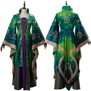 Платье для косплея Winifred Sanderson, костюм на Хэллоуин, карнавальный костюм для женщин и девочек