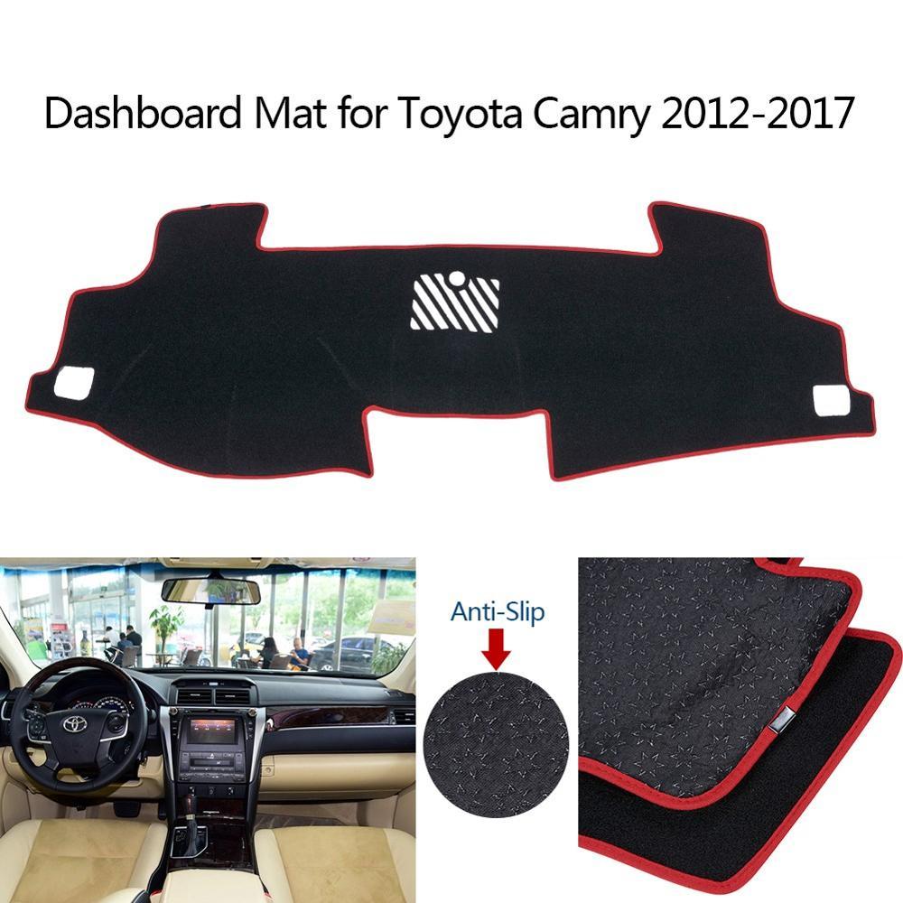 Car Dashboard Dash Mat Non-Slip Sun Cover Pad Black For Toyota Camry 2012 ~ 2017