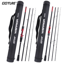 Goture 4 Section Portable Travel Fishing Rod 2.7M 2.4M 2.28M 2.13M Carbon Fiber Spinning Casting Rods with Tube For Lure Fishing