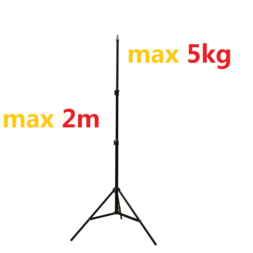 Heavy Duty Metal 2 Meter Light Stand Max Load 5KG 2m Professional Studio Adjustable Soft Box Flash Continuous Light Stand Tripod