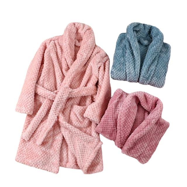 가을 겨울 어린이 잠옷 가운 2019 플란넬 따뜻한 목욕 가운 소녀 4 18 년 청소년 어린이 잠옷 소년