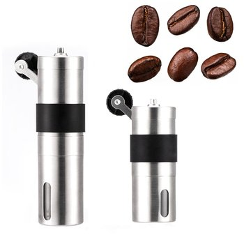 Portable Stainless Steel Coffee Bean Grinder Portable Stainless Steel Grinder Home Shake Manual Coffee Bean Grinder portable manual coffee maker with coffee bean grinder all in one machine stainless steel coffee machine cafetiere cafetera