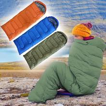 1 кг походные спальные мешки для кемпинга, одноцветные спальные мешки для туристического похода, переносные спальные мешки на молнии на весну и осень с крышкой