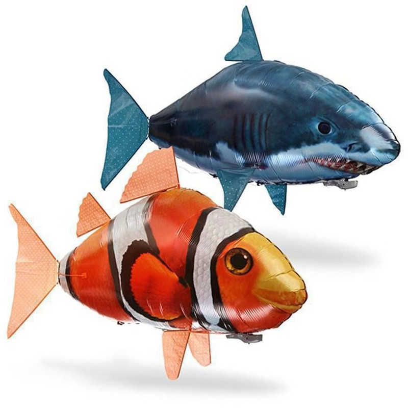 Remote Control Flying Air Balloons Shark Toys Air Swimming Fish Infrared RC Nemo fly Clown Fish Kids Hobbies Gifts Party Robots image