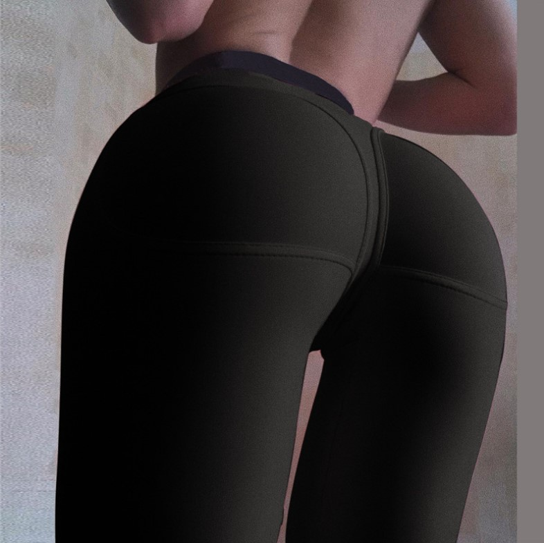 Peach Hip Tight High-waisted Casual Fitness Leggings Athletic Pants Women's Versatile Exaggerates Hips Yoga Running Pants