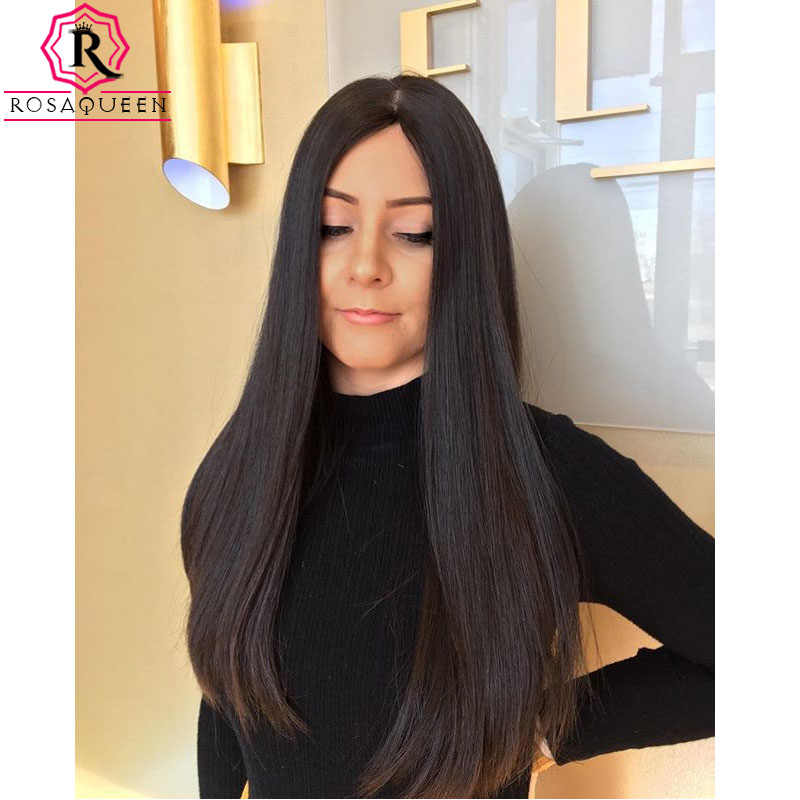 Kosher Jewish Wig Silk Base Top For Women Unprocessed European Virgin Hair Double Drawn Rosa Queen High Quality