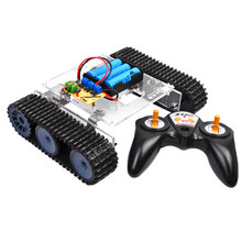 DIY Tank Car Chassis Track Crawler Kits +2.4G Remote Controller for Arduino Robot Accessories(China)