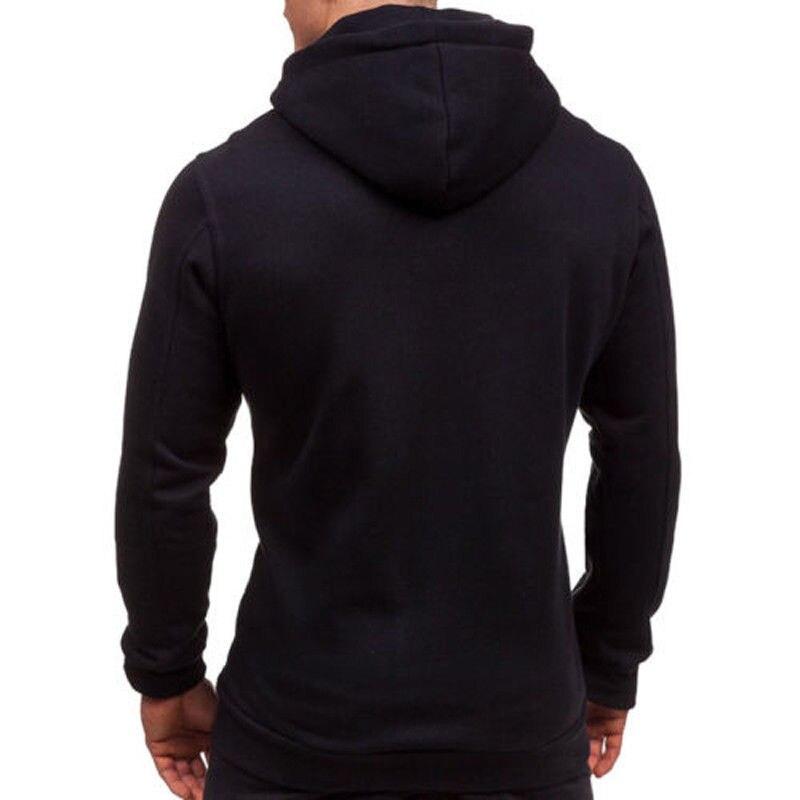 H2210b42e11e847baaa3234bdc81955f23 Men's Solid Zip Up Hoodies Classic Modis Winter Hoodies Sweatshirt Jacket Coat Tops Long Sleeve Casual Male Hoodies