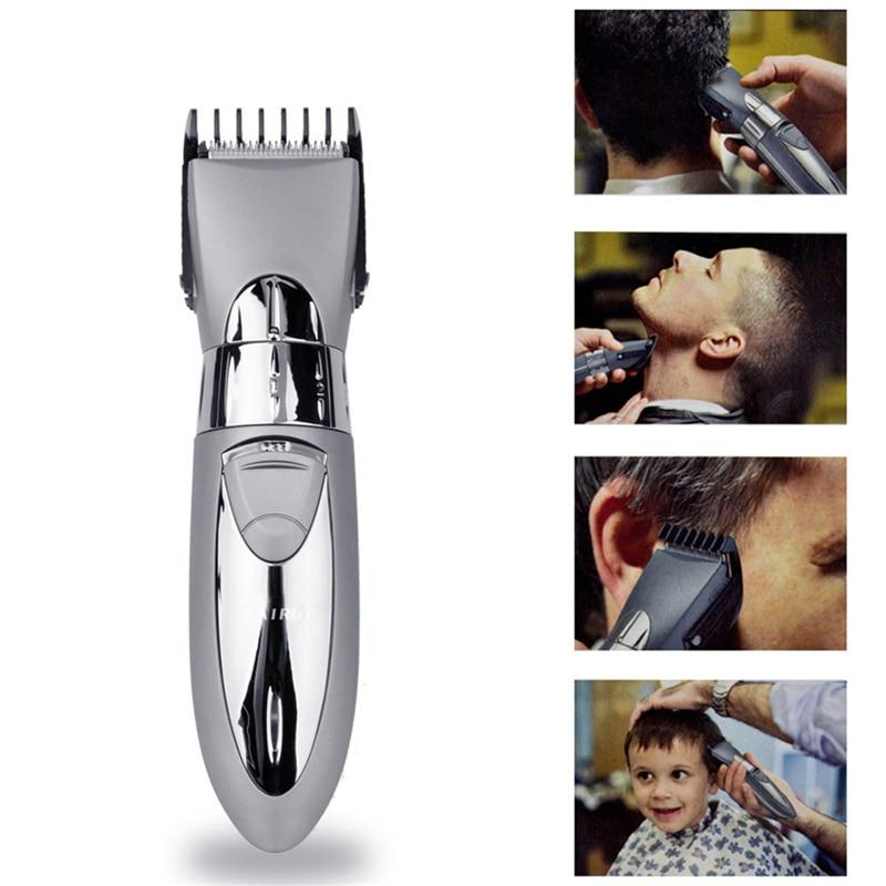 Uppladdningsbar elektrisk hårklippare Skäggtrimmer vattentät för män Baby Hårklippapparat Professionell frisyrmaskin Frisör