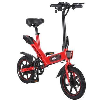 DOHIKER Y1 składany rower elektryczny 350W 36V wodoodporny rower elektryczny 14 #8221 koło 10Ah akumulator 3 tryby LED reflektor tanie i dobre opinie 36 v 251-350 w CN (pochodzenie) Bateria litowa 30 km h Bezszczotkowy Ze stopu aluminium ze stopu aluminium 31-60 km Jedno miejsce