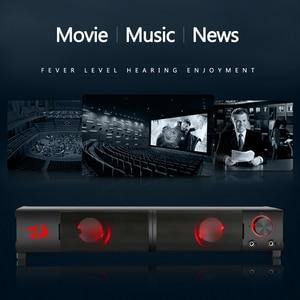 Image 3 - Redragon GS550 aux 3.5mm 스테레오 서라운드 음악 스마트 스피커 칼럼 사운드 바 컴퓨터 PC 홈 노트북 TV 라우드 스피커