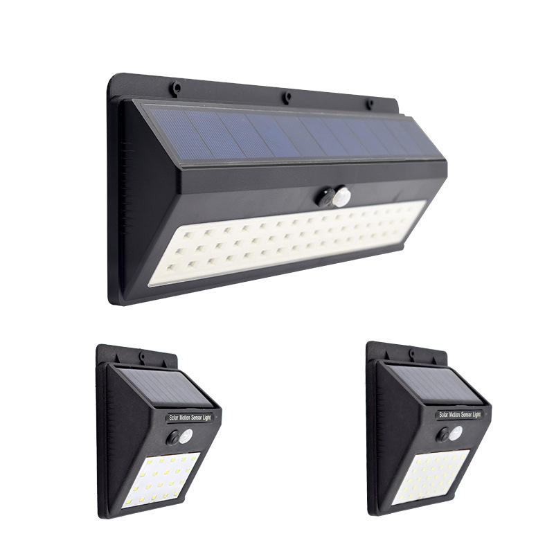 New 30/48 LED Waterproof IP65 Solar Wall Lamp PIR Motion Sensor Light  Adjustable Light Path Emergency Light For Outdoor Garden