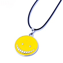 Assassination Classroom Korosensei Pendant Necklace Yellow Ansatsu Kyoushitsu Koro Shiota Akabane Cosplay Weapons Necklaces assassination classroom ansatsu kyoushitsu koro sensei acrylic stand figure model double side plate holder cake topper anime