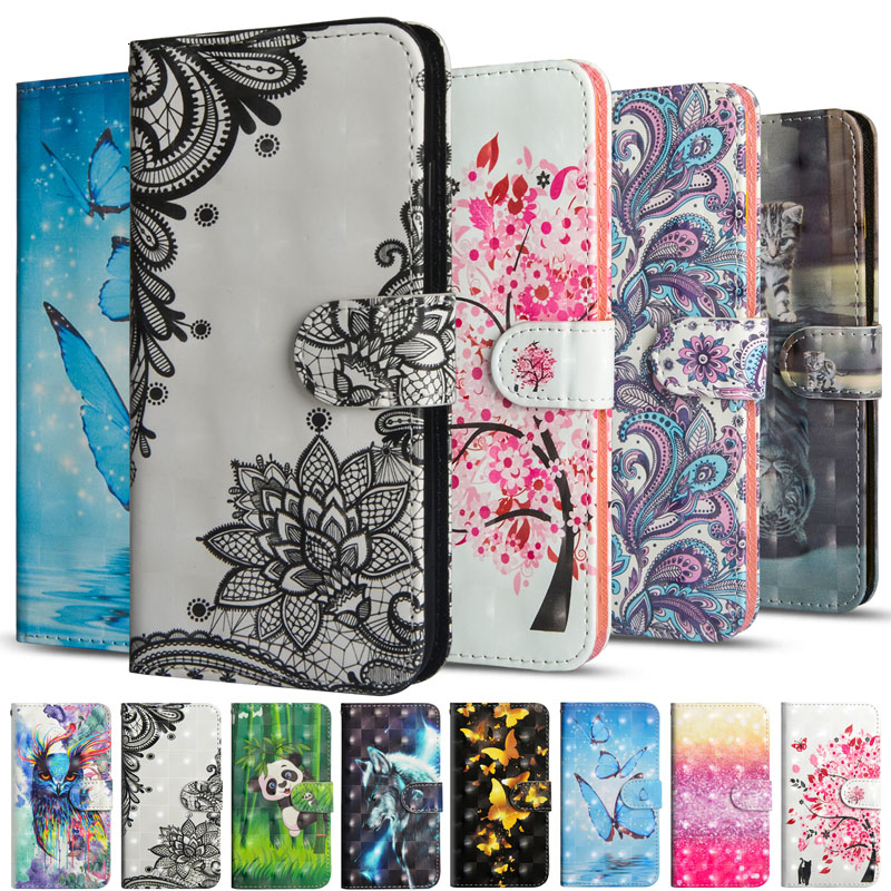 3D Wallet Case For LG K40S Cases Flip Phone Cover Luxury Leather Stand Protective Cart Slot Holder Capa For LGK40S Fundas