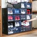 2 шт.  баскетбольная коробка AJ для обуви  большой емкости  органайзер  ящик для обуви  прозрачная пластиковая коробка для хранения обуви  демо...