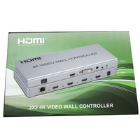 HDMI Video Wall Processor 4K Video Wall Controller Converter 2X2 1x2 1x3 1x4 Support 8 Modes Display HDMI DVI input with RS232