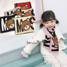Winter Scarf Ring Letter Collor Warm Fashion New Cute Children Muticolor Cartoon-Bear