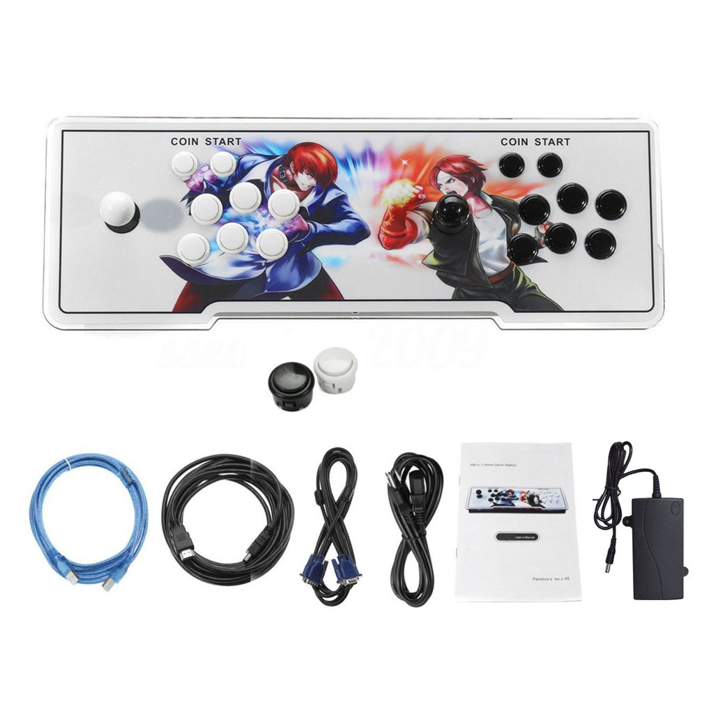 875 in 1 Games Home Multiplayer Classical Arcade Game Console Controller Kit Set Double Joystick Console Best Gift for Children