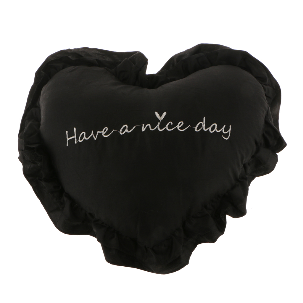 Хлопковая подушка в форме сердца, подушка для сидения, украшение дома, моющаяся, 40 см x 45 см