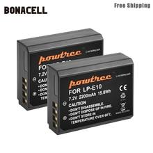 Bonacell 2200 мА/ч, LP-E10 LP E10 LPE10 цифровой Камера Батарея для Canon 1100D 1200D 1300D Rebel T3 T5 поцелуй X50 X70 Батарея L50