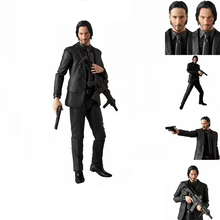 17cm MEDICOM MAFEX John wick PVC Action Figure Toys Joint movable figure Decoration Model kid gift