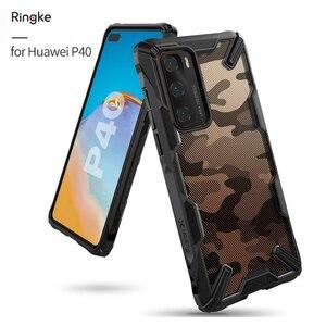 Ringke Fusion-X Для Huawei P40 чехол Прозрачный Жесткий ПК задняя мягкая TPU Рамка для Huawei P40 Pro задняя крышка рамка гибрид