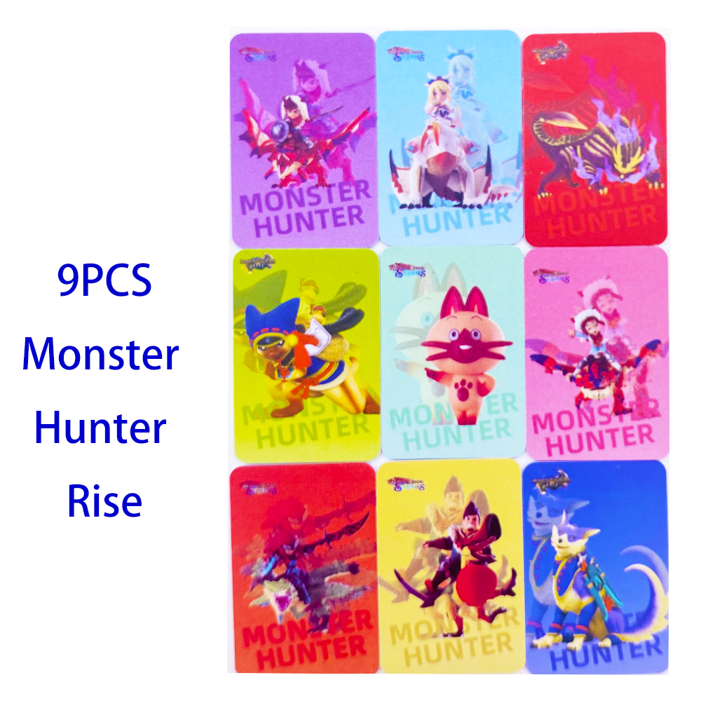 9 шт. карты Amiibo для Monster Hunter Rise Resent Tiger Dragon Ailu Cat NTAG25 Magnamalo Palico Palamute для Nintendo Switch