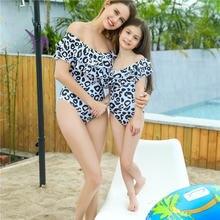 Семейные комплекты купальники для мамы и дочки купальный костюм