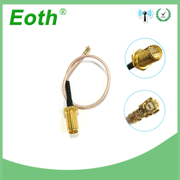 SMA male to Extension Cord U.FL IPX Connector Antenna RF Pigtail Cable Jumper for PCI WiFi Card SMA Jack to IPX RG178 2pcs extension cord u fl ipx to rp sma male connector antenna rf pigtail cable jumper for pci wifi card rp sma jack to ipx