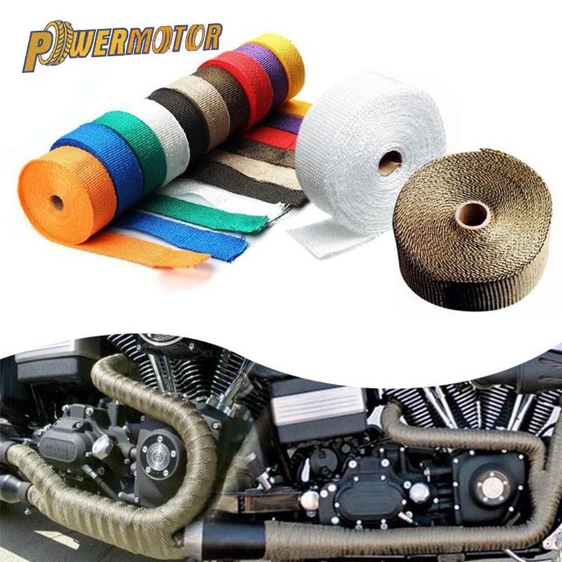 Auto Parts 10m Cotton Material Exhaust Wrap Auto Motorcycle Exhaust Heat Shield Wrap Heat Resistant Wrap Random Color Delivery.