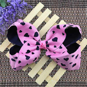 Hair Accessories For Girls Girl Bowknot Grosgrain Ribbon Hair Pins Boutique Knot Dance Glips Barrettes Heart-Shaped Hairclips