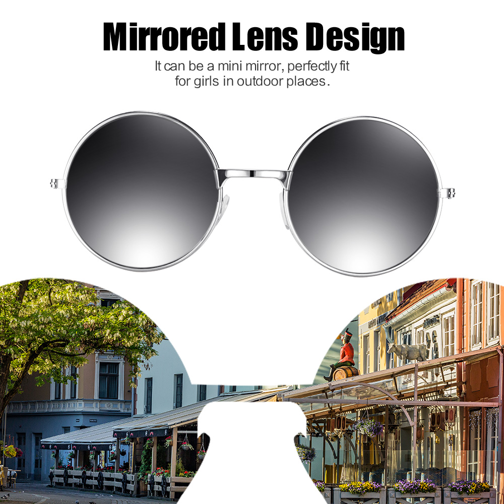 Vintage Men Women Round Mirrored Sunglasses Eyewear Outdoor Sports GlassesWFIT