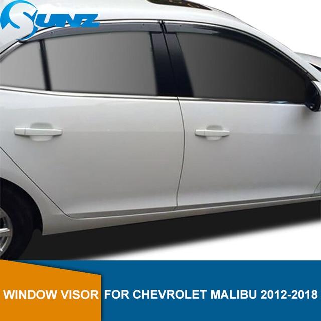 Ventana deflectores para Chevrolet Malibú 2012, 2013, 2014, 2015, 2016, 2017, 2018 deflector de visera para ventana protector para lluvia riovalle