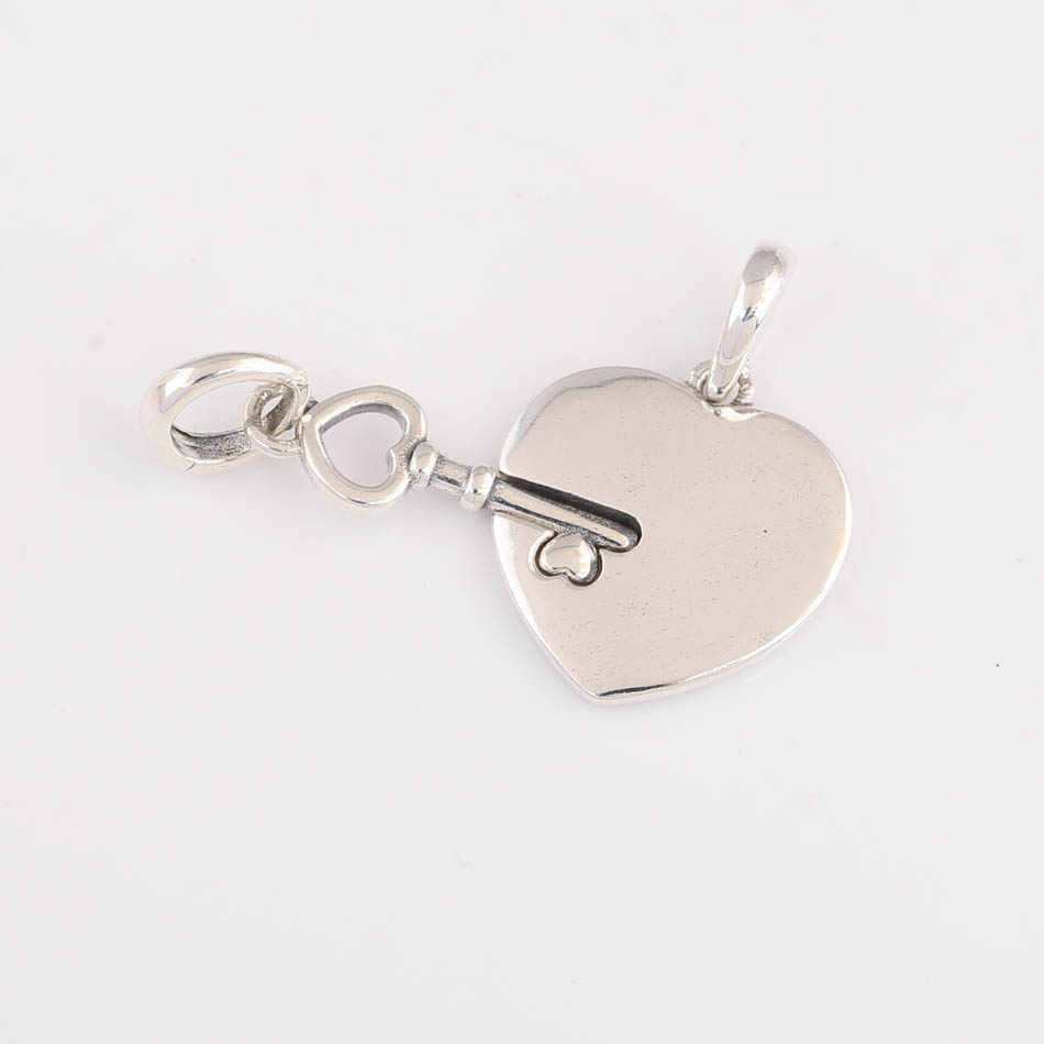 แท้ S925 Charm เพื่อนที่ดีที่สุดหัวใจและหัวใจ Dangle Fit Pandora สร้อยข้อมือกำไลข้อมือ DIY เครื่องประดับ