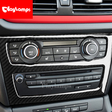 Interior Car Accessories 3D Carbon Fiber Car CD Control Panel Stickers CD Panel Frame Decorations Refit For BMW E84 X1 2011-201 keynote adv wb [with cd x1 ]