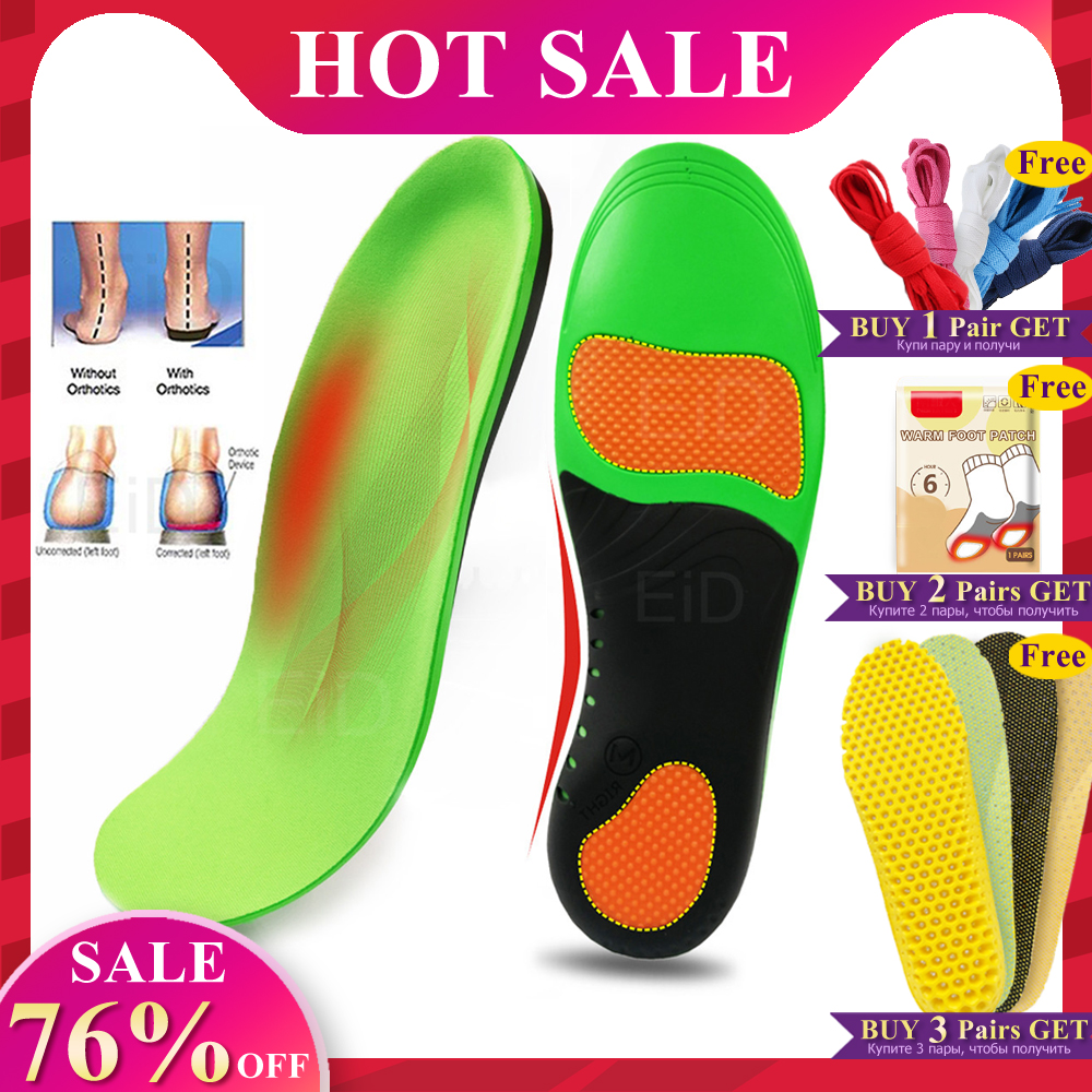 Plus Size Orthotics Cubitus Varus Flat Foot Insole Orthopedic Insoles For Shoes Insert Arch Support Pad For Plantar Fasciitis