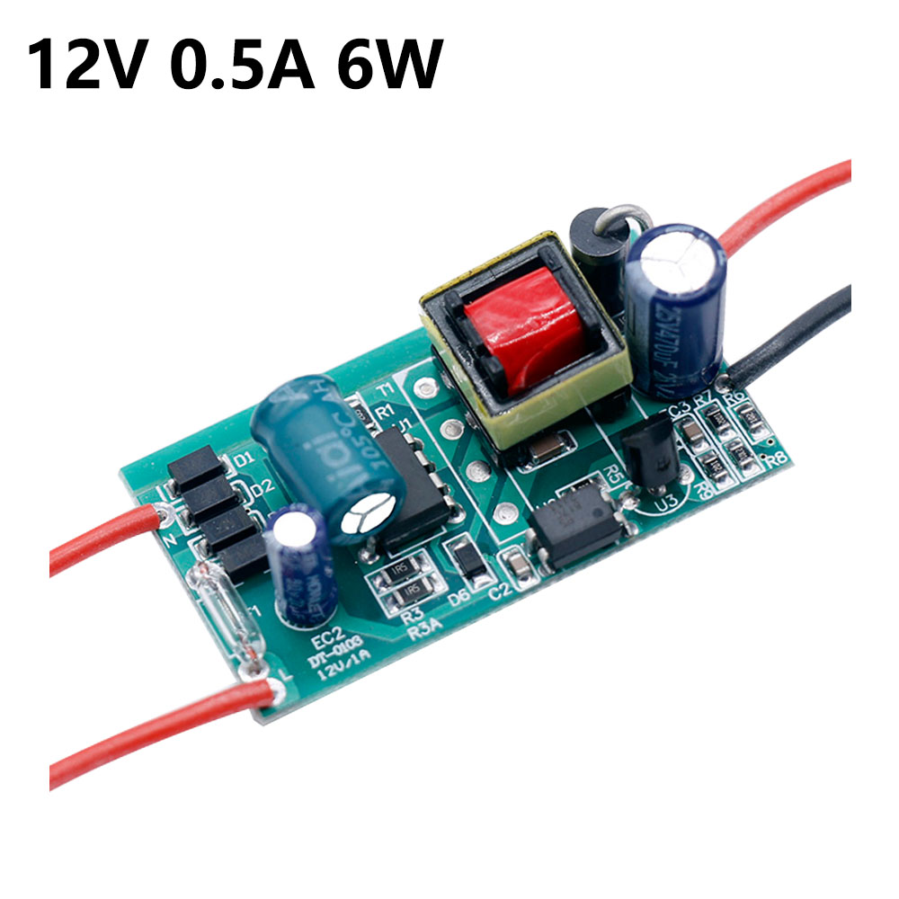 LED Driver 220V To DC12V 1A Light 24V 6W 12W 24W 36W 60W For 24V 1A 1.5A LED Power Supply 12V Light Transformers 12 Volt For LED