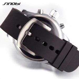 Image 5 - SINOBI Мужские спортивные часы, водонепроницаемые Желтые часы с циферблатом, стальной хронограф, кварцевые наручные часы 2020 Racing Relogio Masculino