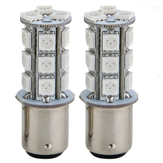 2x1157 SMD 5050 18 Red LED Flash Car Brake Tail Rear Signal Stop Light Lamp Bulb